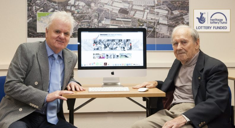 Steve Haigh and Dave Gibbings who jointly developed the Westland100 website
