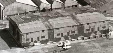 WW2 camouflage hangers at Westland