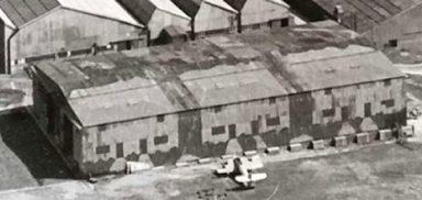WW2 camouflage hangers at Westland