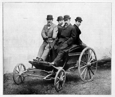 Petter, Hill and Boll's Autocar. Left to Right: (Front) James B. Petter, H. W. Southcombe, (Back) G. B. Petter and E. W. Petter.